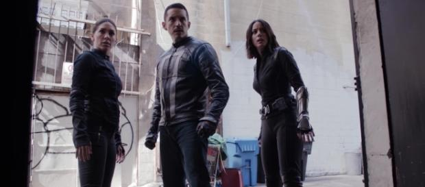 """Slingshot, Ghost Rider, and Quake in """"The Laws of Inferno Dynamics""""/Photo via screenshot, 'Agents of SHIELD'/ABC"""