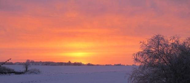 Wintersonnenwende – Schneelandschaft