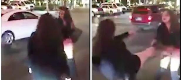 Mulheres em briga feia no meio da rua