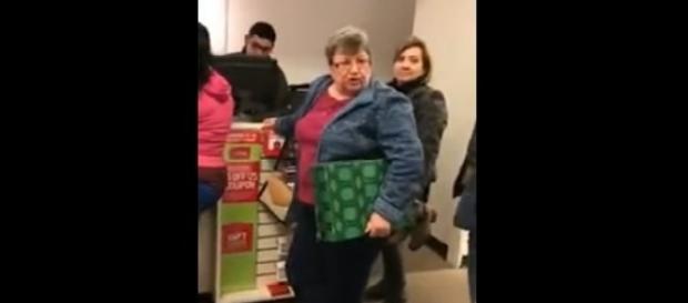 Racist Kentucky mall lady, via YouTube