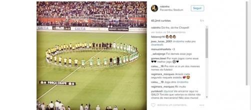 Amistoso Ousadia x Pedalada entre Neymar, Robinho e personalidades da bola e da música, no Pacaembu