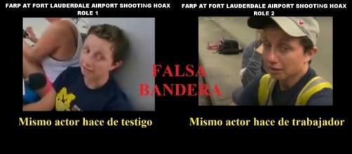 Fotos del mismo actor con diferente rol en atentado