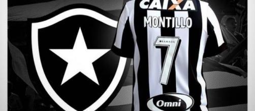Montillo vai usar a camisa 7 no Botafogo (Foto: Reprodução/Twitter)