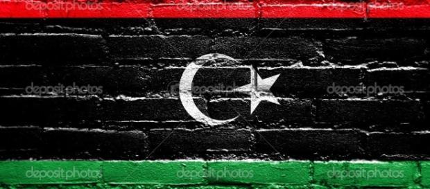 Bandiera Libia dipinta sul muro di mattoni — Foto Stock ... - depositphotos.com