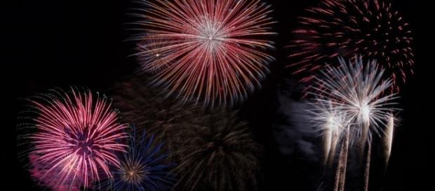 I fuochi d'artificio durante Capodanno