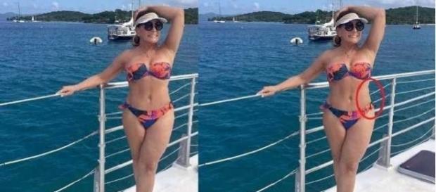 Internautas criticaram a postura da atriz global
