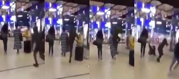Vídeo mostra mulher agredida com chutes nas costas em Holanda.