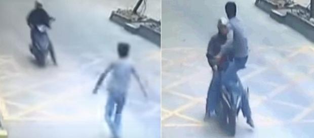 Ladrão entrega celular após ser atingido por voadora