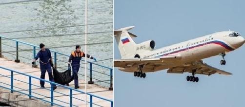 Resgate dos corpos do avião russo que caiu no mar Negro