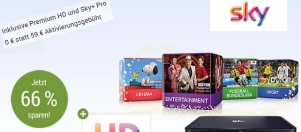 Alles für unter 30 Euro - GMX Kunden bekommen Sky für lau / Fotos: GMX, Montage