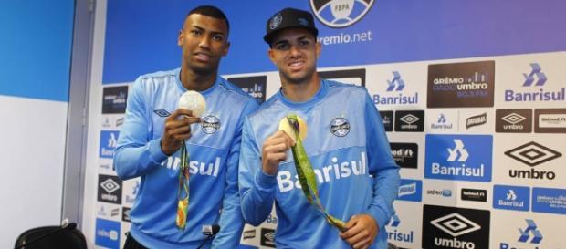 Luan e Walace não receberam propostas oficiais (Grêmio/ Divulgação)