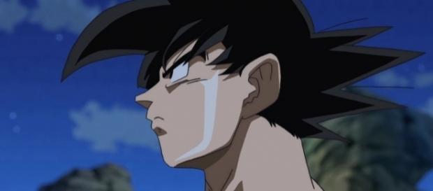 Goku pensativo en el episodio 72 de la serie