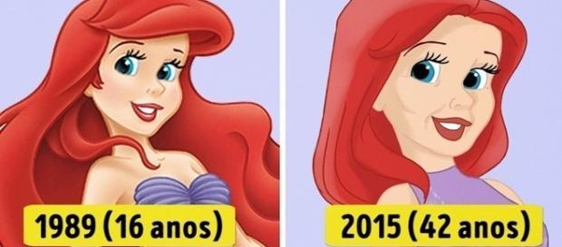 Veja como seria o visual das princesas da Disney de acordo com sua idade