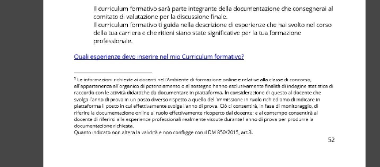 Esempio Curriculum Formativo