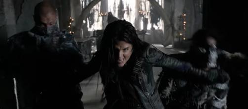 Octavia (Marie Avgeropolos) in season 4 of 'The 100'/Photo via screencap, 'The 100'/The CW