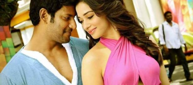 Kaththi Sandai - Tamannaah and Vishaal - cinecharal.com