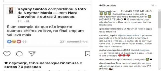 Post no Instagram que detona a prima de Neymar - Reprodução/Instagram