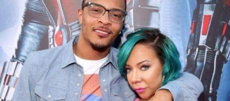 Rapper T.I. and wife Tiny Harris. Credit: NYdaily.com
