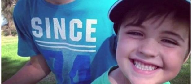 Josiah Sisson, de nove anos, foi atropelado por caminhão