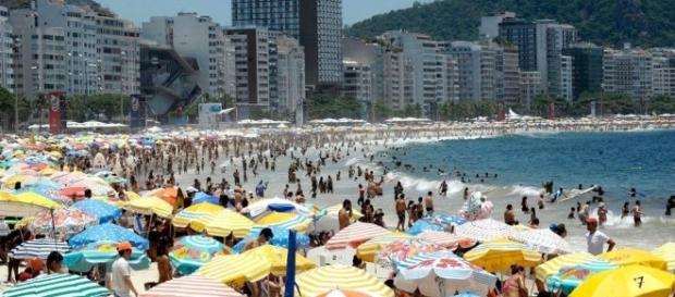 O Rio de Janeiro teve temperatura alta nesta terça (Foto:Fernando Frazão/Agência Brasil)