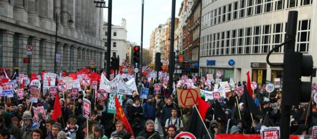 Youth rallying in London; Google Images