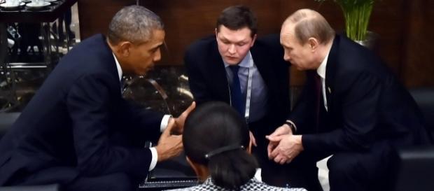 Barack Obama și Vadimir Putin într-o întâlnire avută în anul 2015 - Foto: Wikimedia