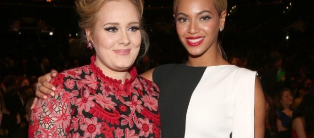 Friendly rivalry between Adele and Beyonce at the Grammy Awards