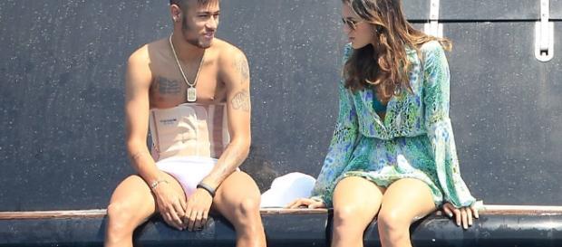 Neymar e Bruna em férias na Espanha (Foto: Reprodução)