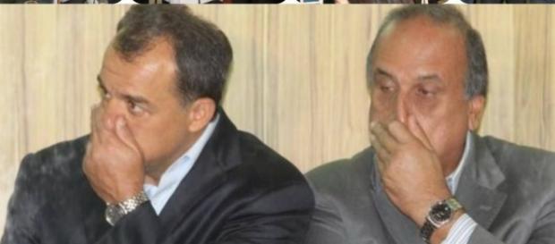 Pezão, governador do Rio, ao lado de seu 'padrinho'político, Sérgio Cabral