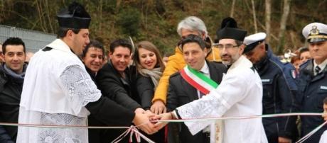 Festa di inaugurazione del ponte 'San Nicola' a Laino Castello