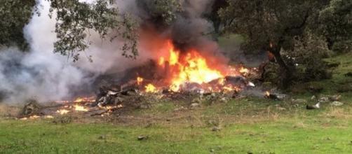 Aeronave despenha--se em Toledo, Espanha e faz 4 mortos, duas delas eram crianças