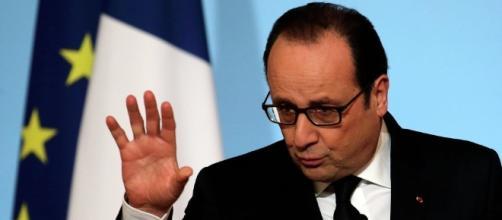 Il presidente della Repubblica Françoise Hollande