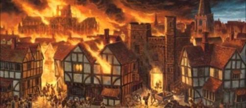 Londres en1666 - una de las 11 curiosidades del presente artículo