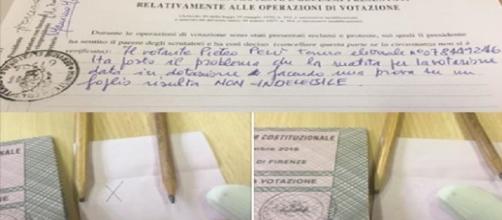 Un estratto del post di Piero Pelù dove si legge la sua dichiarazione messa a verbale.