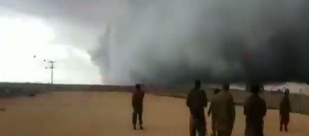 Nuvem assustadora atinge a fronteira entre Israel e Síria