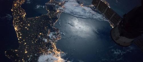 Foto dalla ISS del Sud Italia. Foto: NASA.