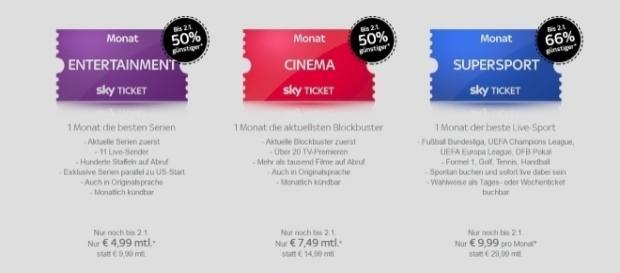 Sky Deutschland gewährt weiterhin Rabatte / Foto: Sky Screenshot