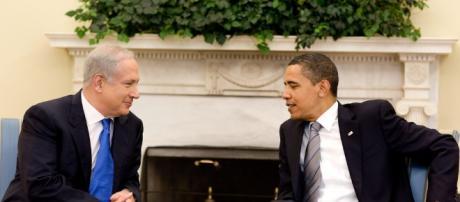 Benjamín Netanyahu y Barack Obama en el Oval Office, 2009
