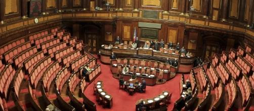 L'aula del Senato della Repubblica a Palazzo Madama