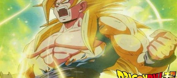 Goku in his form Supreme Saiyajin. from YouTube