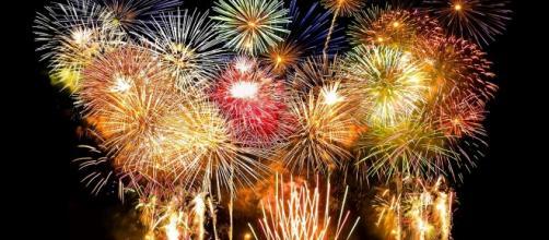 Fuegos artificiales en las celebraciones de fin de año