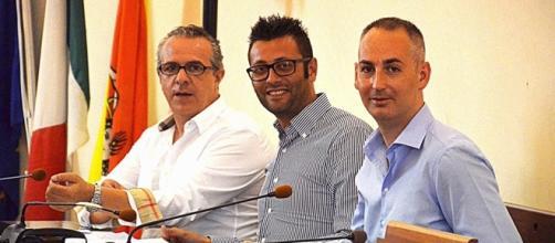 I consiglieri di opposizione Ferrero, Pintaldi e Rosa.