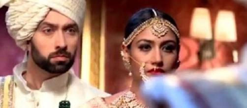 Ishqbaaz - Anika and Shivaay get married (Youtube screen grab)