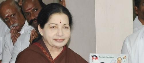 Late chief minister of Tamil Nadu, India, J Jayalalithaa / Photo via Prakashfotos, Own work