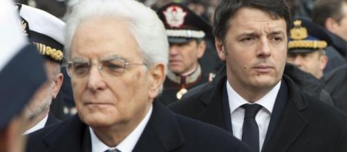 Mattarella e Renzi a colloquio dopo le dimissioni del premier