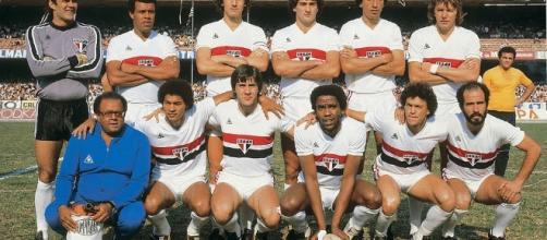 O time da decisão do título de 1981 que começava com o goleiro Valdir Pérez e terminava com Mário Sérgio