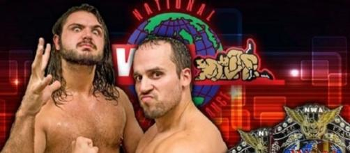 The new NWA World Tag Team Champions, The Heatseekers - courtesy of NWA Ringside