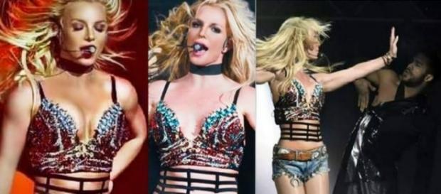 #BritneySpears accende il palco del #TripleHoShow, live in California. #BlastingNews