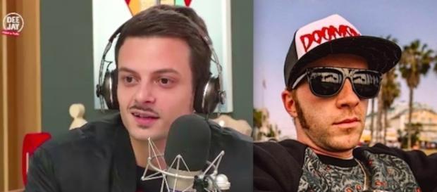 Fabio Rovazzi a sinistra, Salmo a destra.