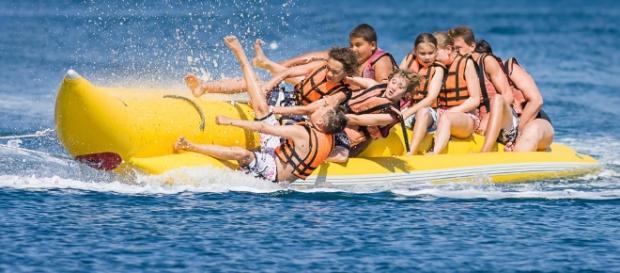 """Imagem de uma """"banana boat"""". Fonte internet"""